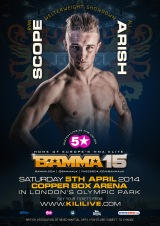 BAMMA 15 adds Freakshow vs Hervey & Scope vs Arish